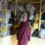 Tibetan Medicine doctor in herbs storage